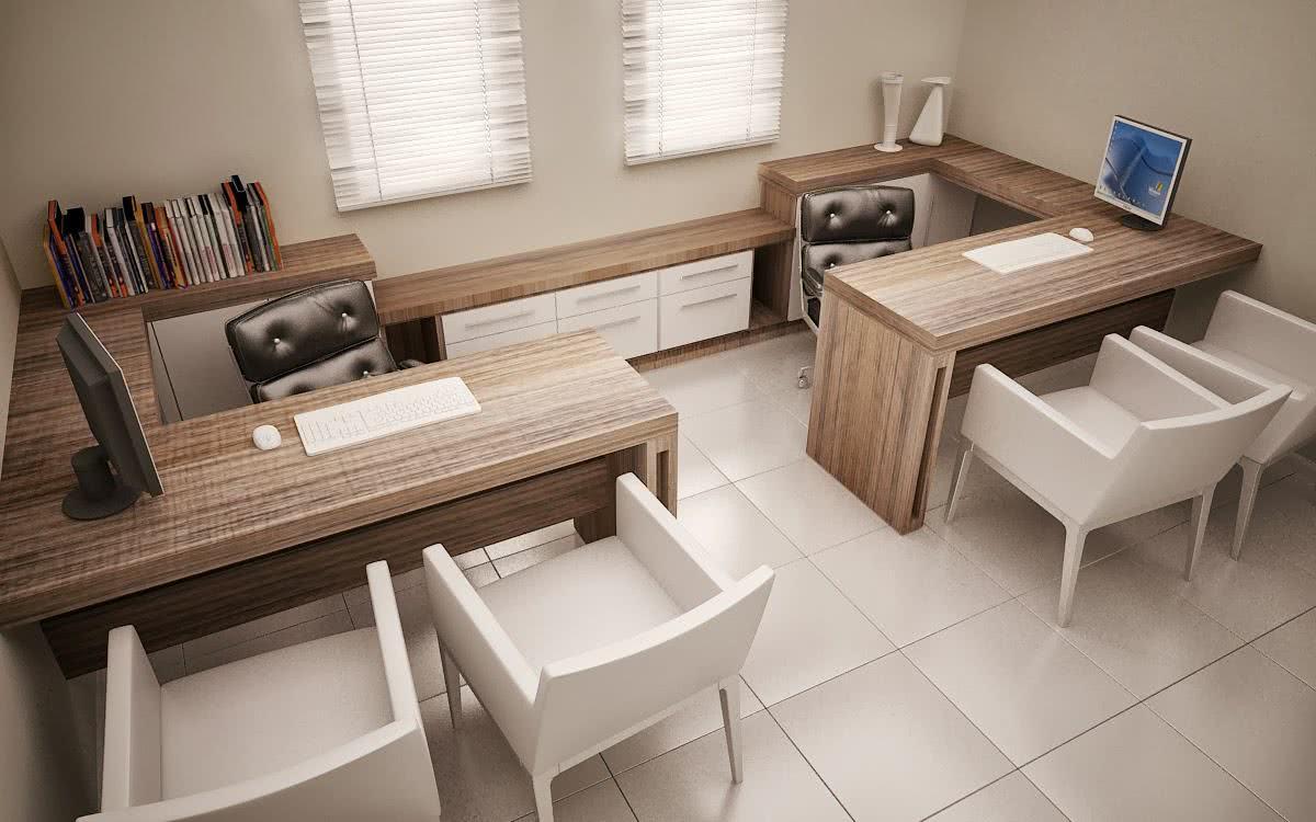 Escrit rios modernos de madeira escrit rios modernos for Mesas de escritorio modernas